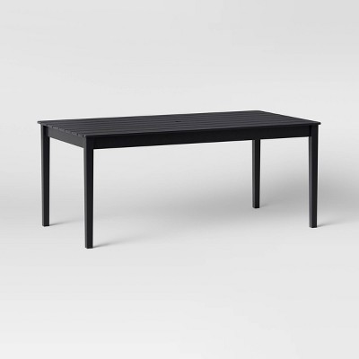 blackened wood 6 person rectangle patio dining table smith hawken