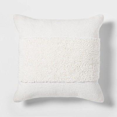 18 x18 modern tufted square throw pillow white project 62