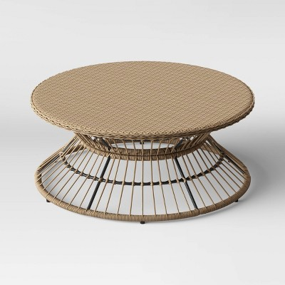 martii rattan patio coffee table natural project 62