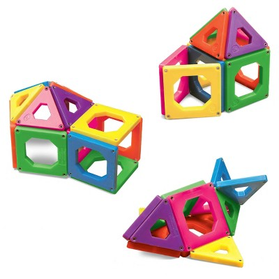 discovery kids toy magnetic tiles building set 24pcs