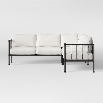 fernhill 3pc patio sectional white threshold