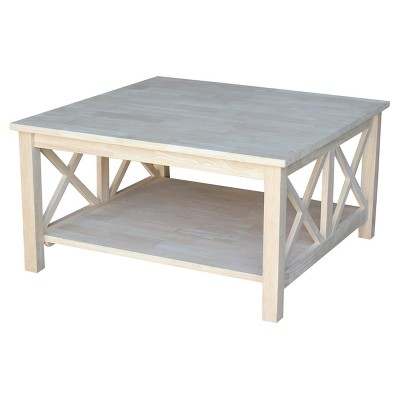 hampton square coffee table unfinished international concepts