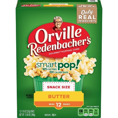 orville redenbacher s smart pop butter popcorn snack size bag 13 96oz 12ct