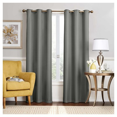 63 x40 nikki thermaback blackout curtain panel gray eclipse