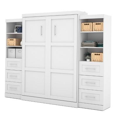 115 queen wall bed kit white bestar