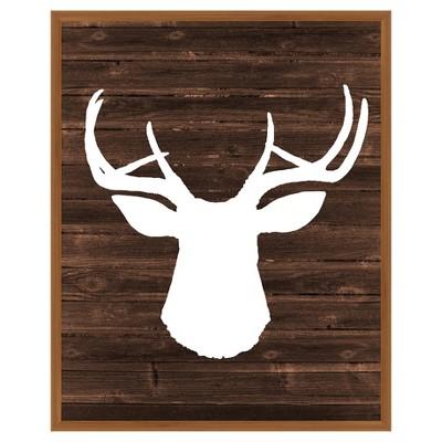 17 x 21 deer single picture frame brown ptm images
