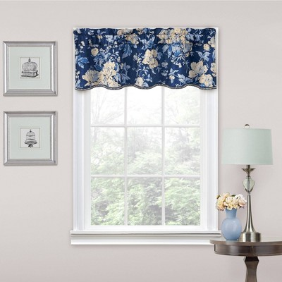16 x52 floral window valance indigo traditions by waverly