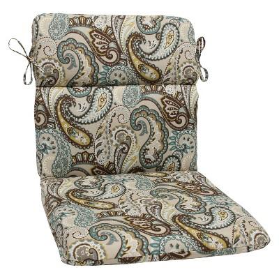 outdoor round edge chair cushion tamara paisley pillow perfect