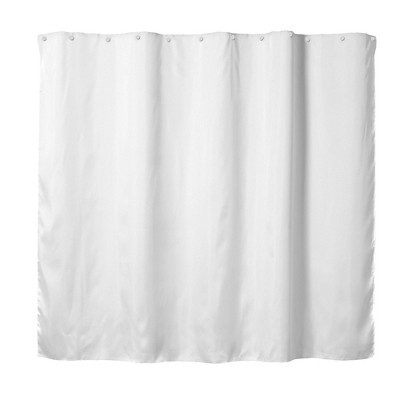 54 x70 fabric shower liner white hookless