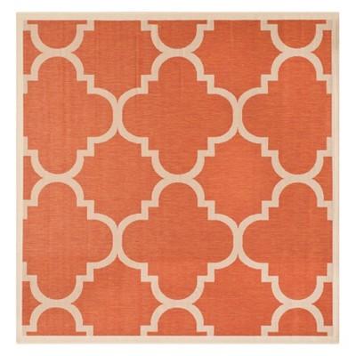 4 x 4 richmond square outdoor rug terracotta safavieh