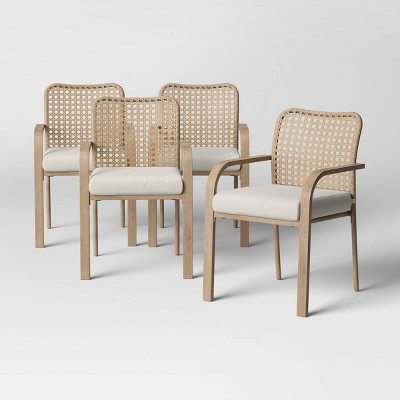 collier 4pk cane look woven back patio dining chair project 62