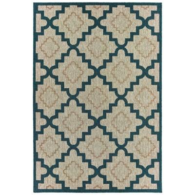 6 7 x9 2 landry scalloped lattice patio rug gray blue