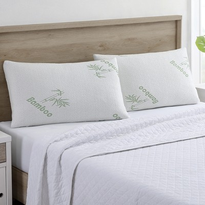 modern threads bamboo by rayon memory foam pillow 2 pack king