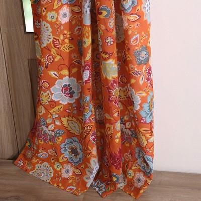 greenland home fashion astoria festive window curtain panel 42 x 63 orange