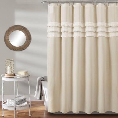 ciel tassel shower curtain neutral lush decor