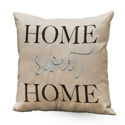 lakeside home sweet home decorative accent pillow sentiment furniture accent