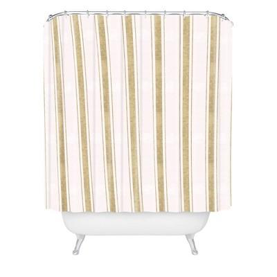 holli zollinger aegean jute striped shower curtain brown deny designs