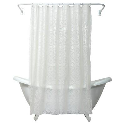 morocco peva geometric shower curtain white india ink