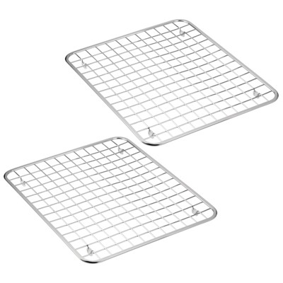 https www target com p mdesign metal kitchen sink dish drying rack mat grid design 2 pack chrome a 83605443