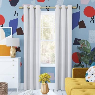 63 x40 harper bright vibes grommet top 100 blackout curtain panel white sun zero