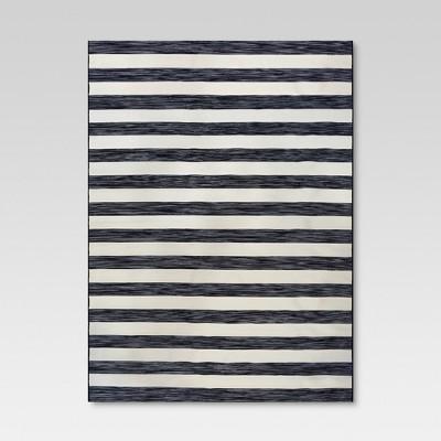 9 x 12 outdoor rug worn stripe black threshold
