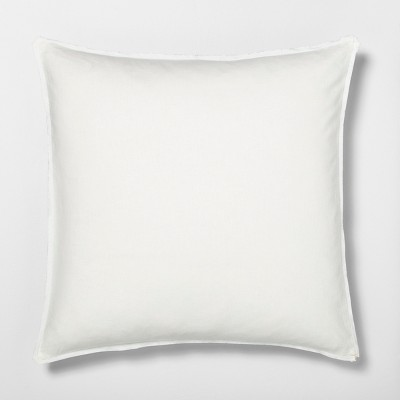 solid linen blend euro pillow sham sour cream hearth hand with magnolia