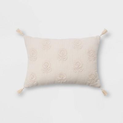 embroidered lumbar pillow target