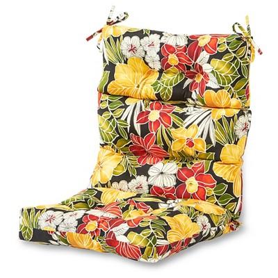 outdoor high back chair cushion aloha black floral kensington garden