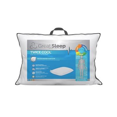 standard twice cool memory foam core pillow great sleep