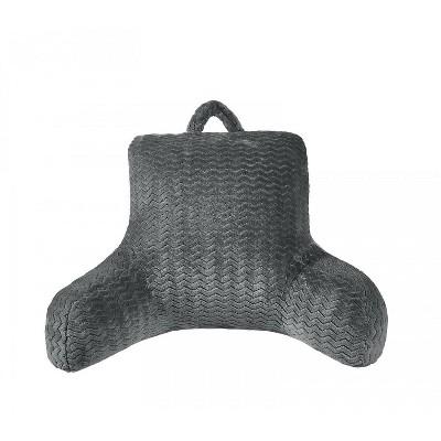 goodgram chevron overfilled premium plush ultra soft bed rest pillow gray