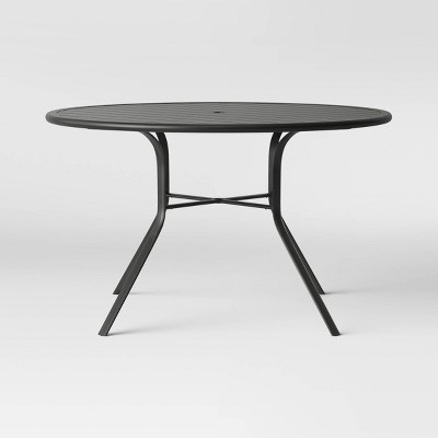 avalon 48 round metal patio dining table project 62