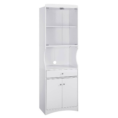 traditional microwave cabinet white home source