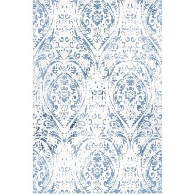 5 3 x 7 2 sofia juniper indoor outdoor rug ivory blue nicole miller