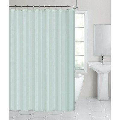 hotel collection water resistant fabric shower curtain liner seamist aqua
