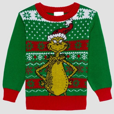 Toddler Boys Dr Seuss Grinch Ugly Holiday Sweater