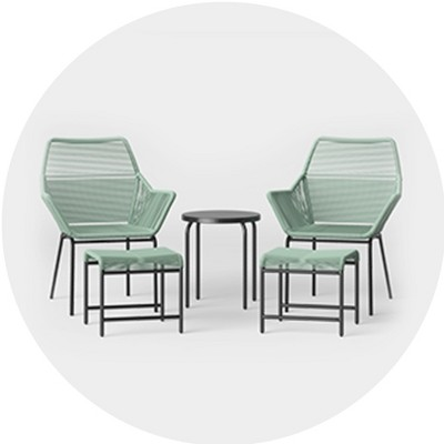 small space patio furniture target