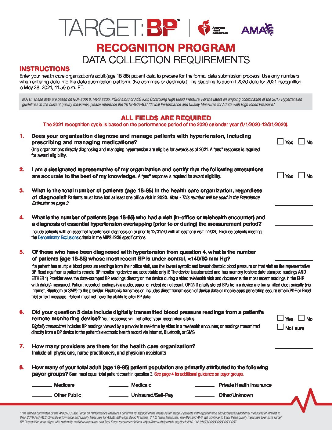 Data Collection Worksheet