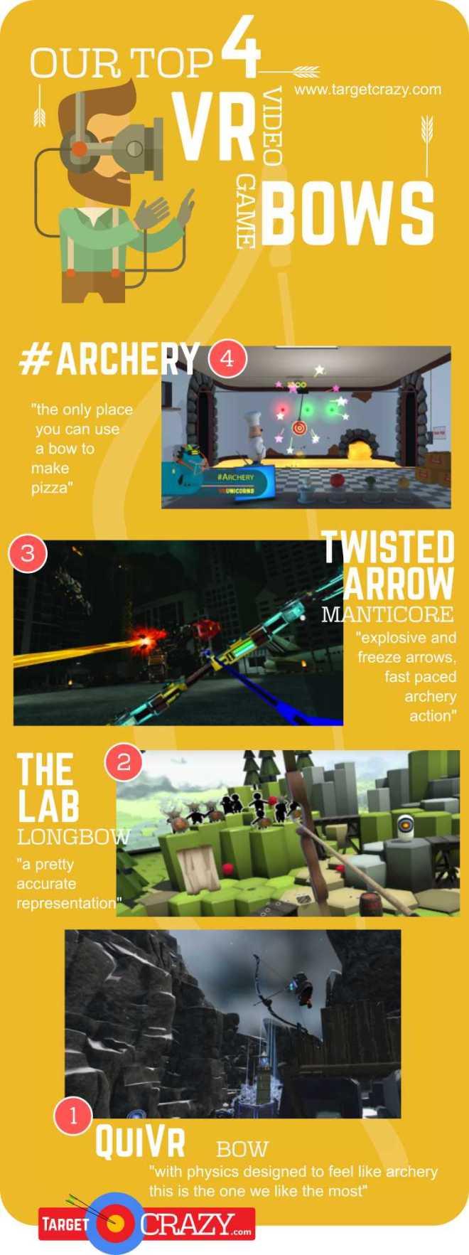 4 Top Virtual Reality Video Game Bows