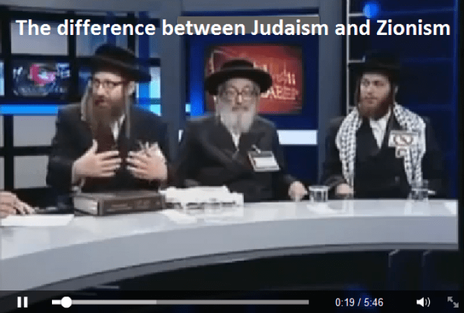 Difference between Judaism and Zionism
