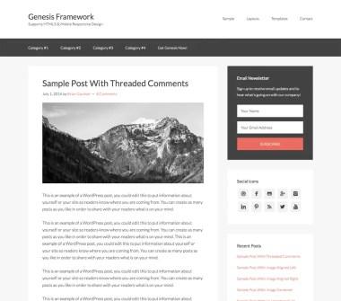 Genesis Framework Theme by StudioPress