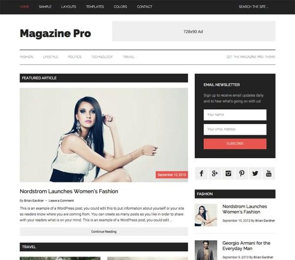 Genesis Magazine Pro Theme by StudioPress