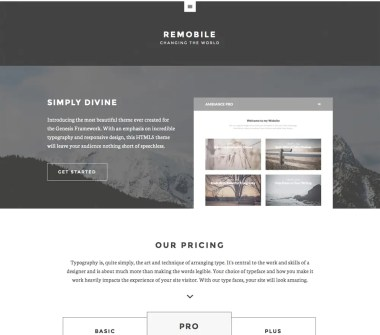 Genesis Remobile Pro Theme by StudioPress