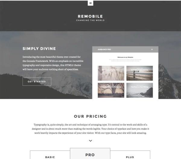 Genesis Remobile Pro Theme by StudioPress