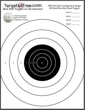 free printable shooting target # 43