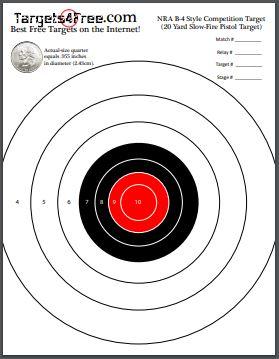 free printable shooting target # 17