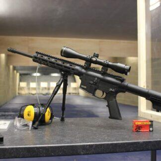 assault rifle on the range