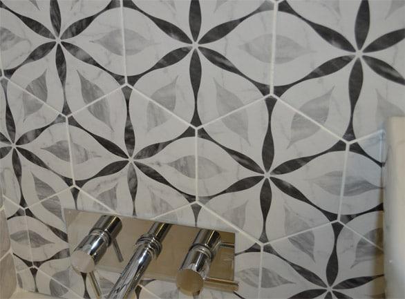 marmo bardiglio hexagon patterned wall floor tile 175x200mm