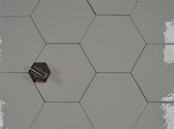 hexagon gloss white 175x200 wall floor tile