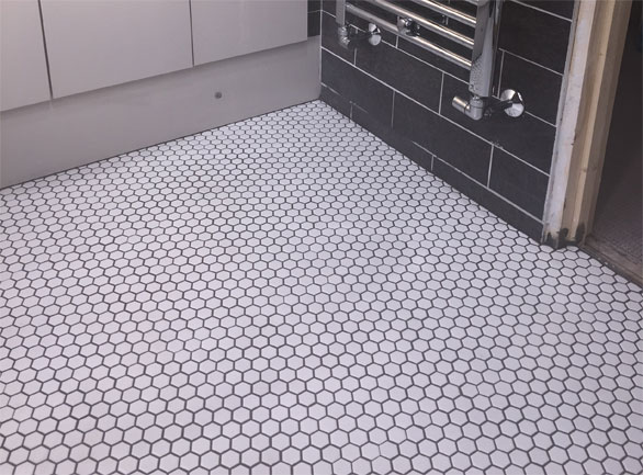 hexagon matt white mosaic 297 x 257mm