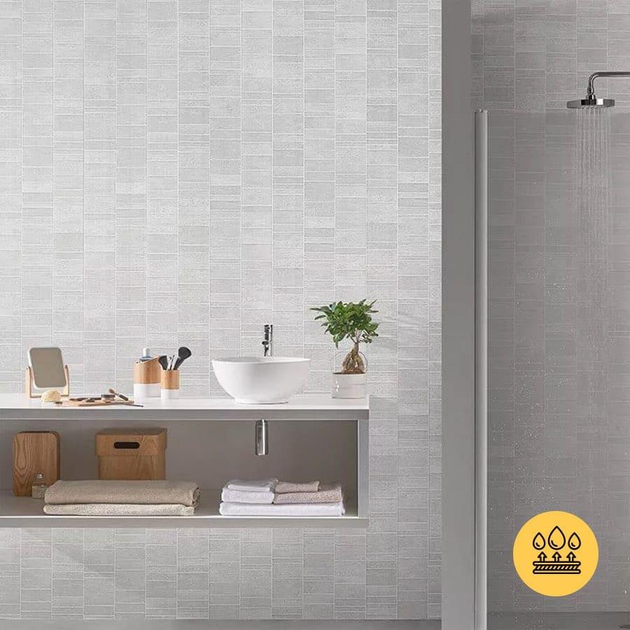 white tile effect pvc wall panels